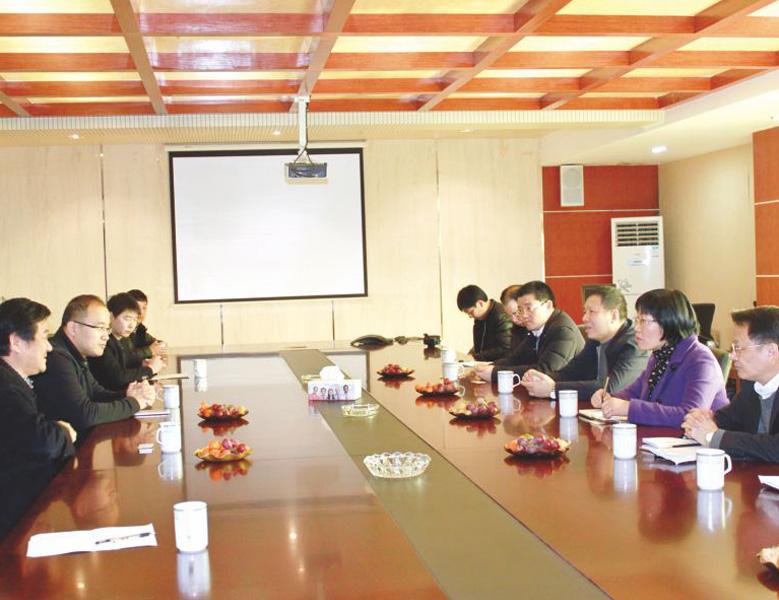 2016年10月,浙江省統計局黨組書記、局長王杰調研天潔