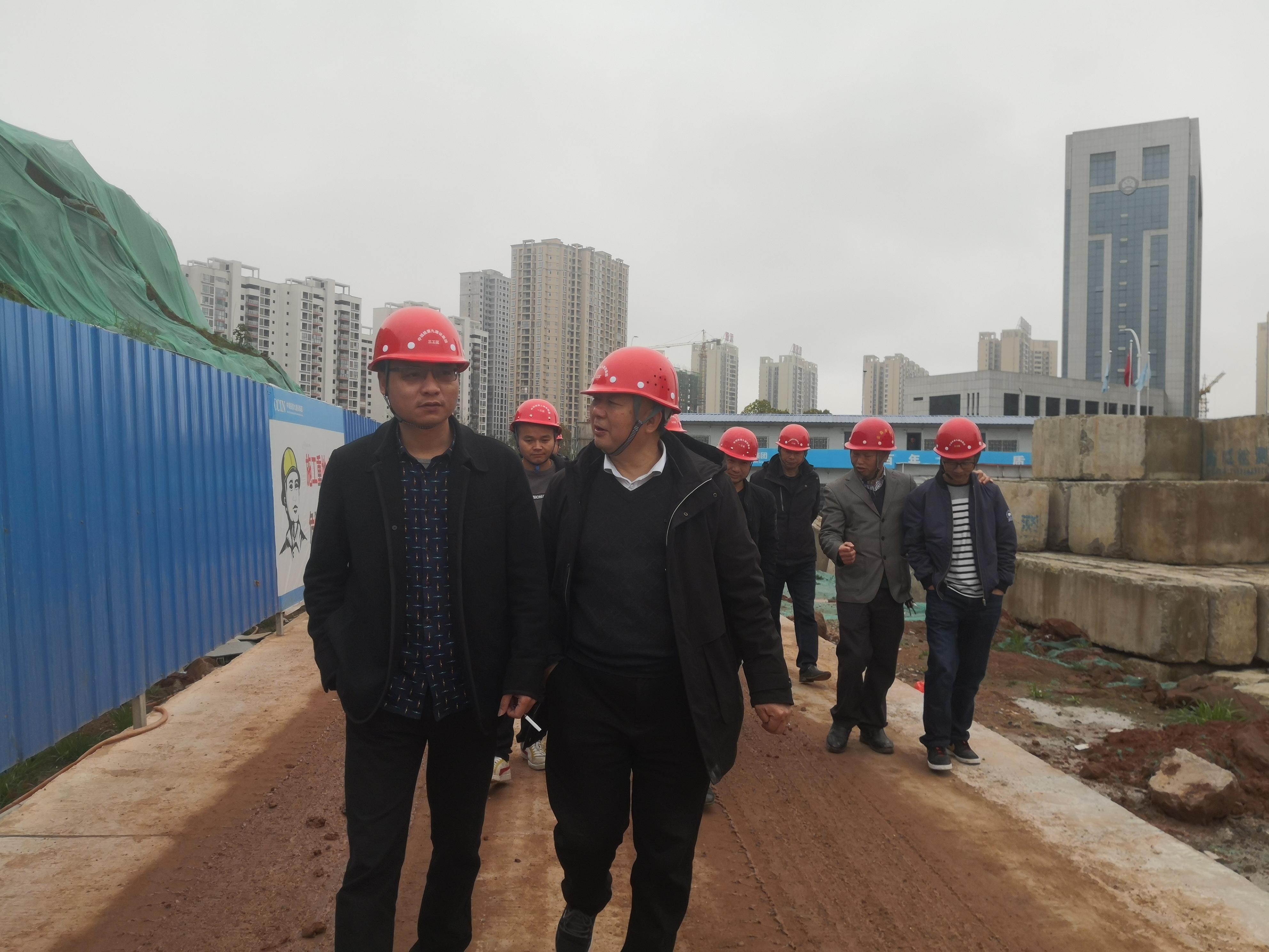 集團副總工程師何廣文帶隊赴各在建項目調研檢查