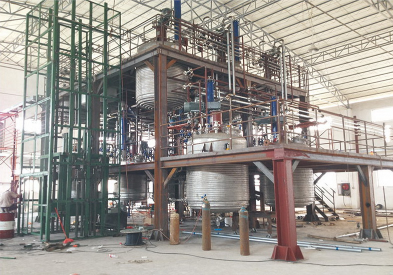 工藝設計、設備制造、施工安裝巴德富新產品中試裝置