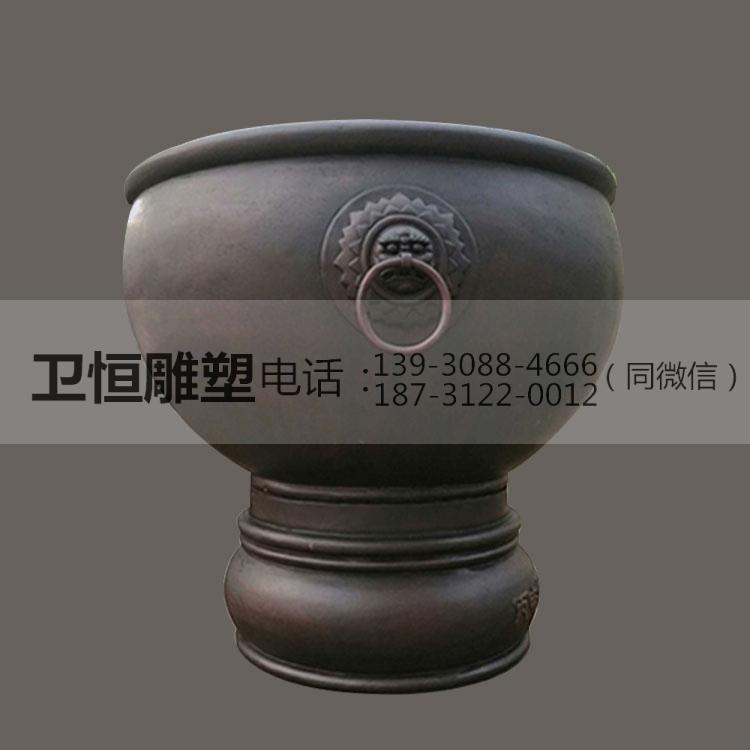 铜大缸雕塑