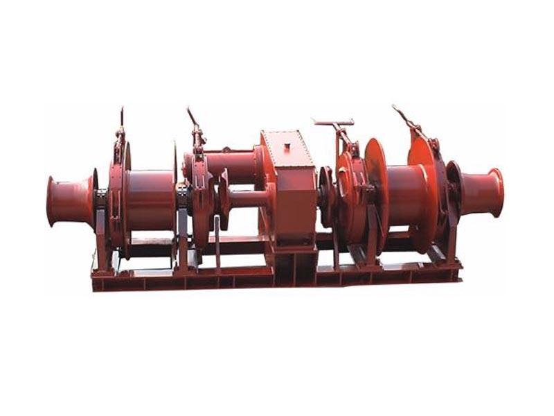 对称式电动起锚系泊组合机