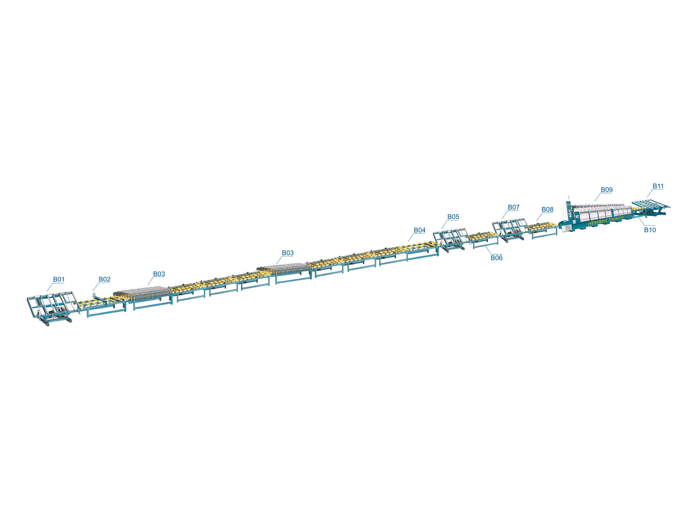 大理石:拋光、補膠生產線(參考)