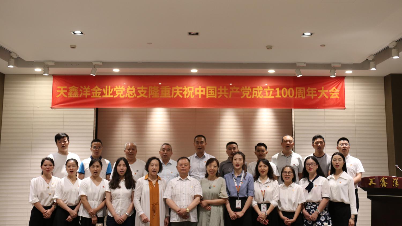 天鑫洋党总支组织各党支部聚集不雅看庆祝中国共产党成立100周年大会