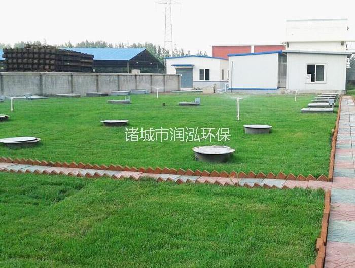 矿井污水处理设备埋地现场图