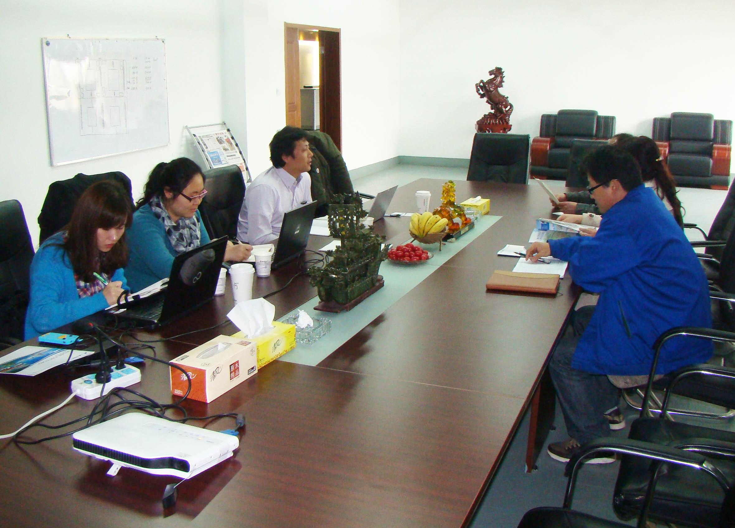 2013年4月23日富士电机领导莅临我司洽谈合作事宜