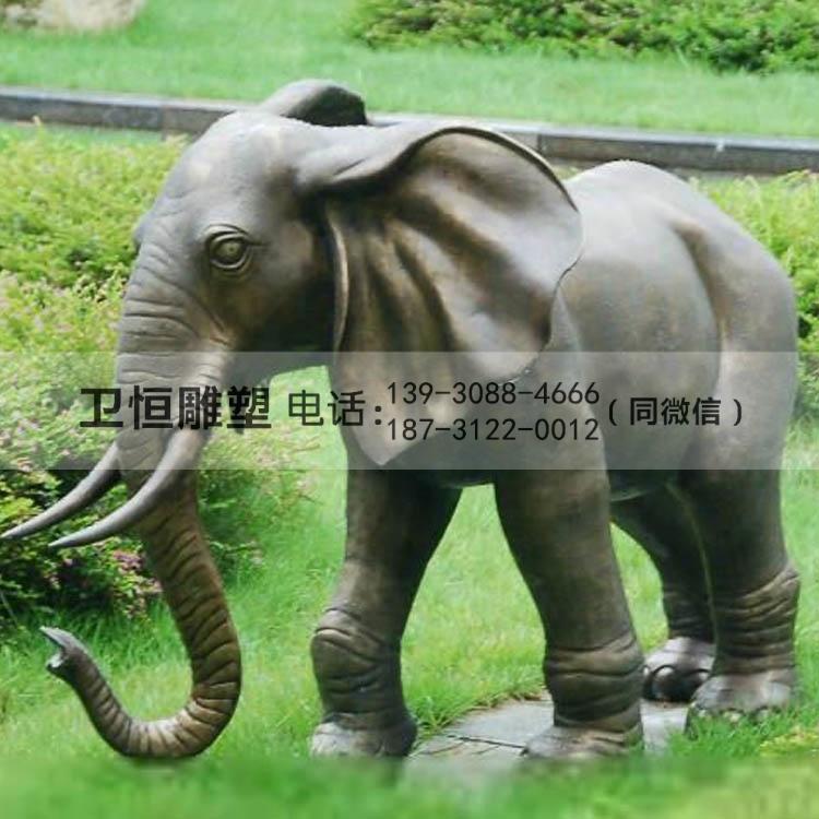园林铜大象