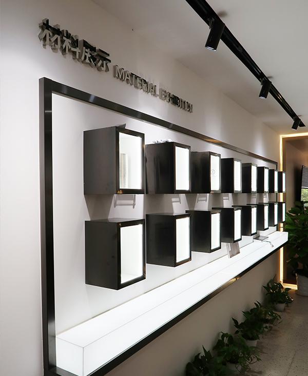 加裝展廳材料展示區