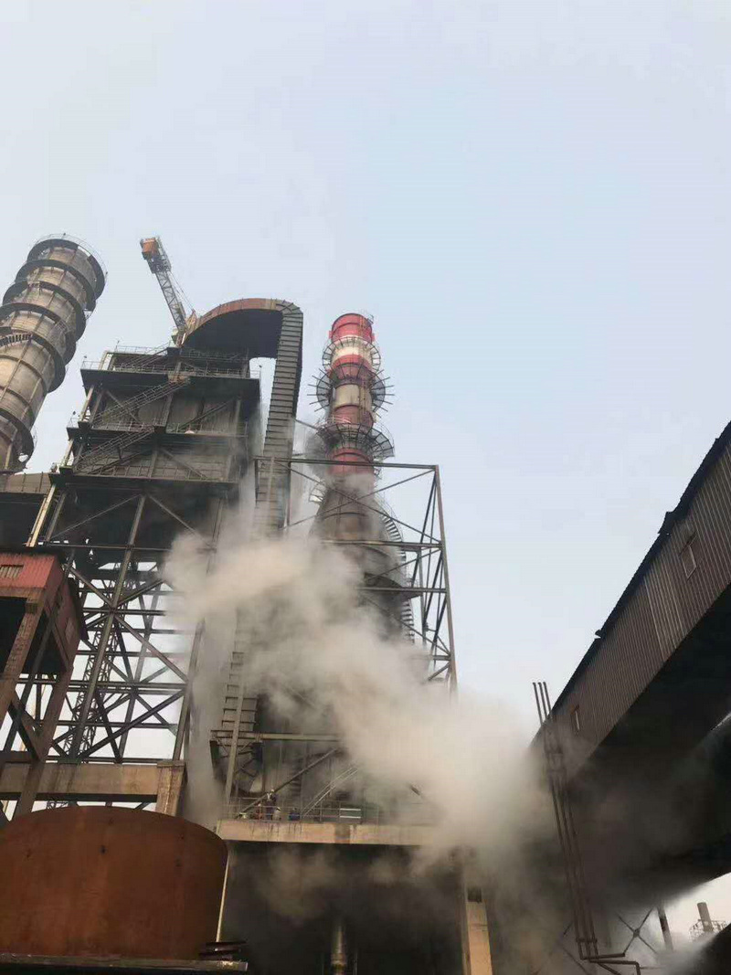 同正環保集團普陽鋼鐵燒結超低排放改造項目煙氣消白超預期