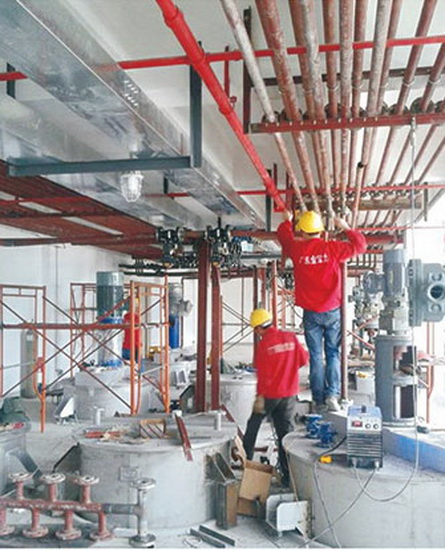 油墨整廠EPC項目施工現場
