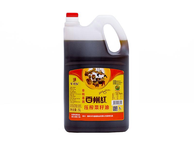 非轉基因壓榨菜籽油5L