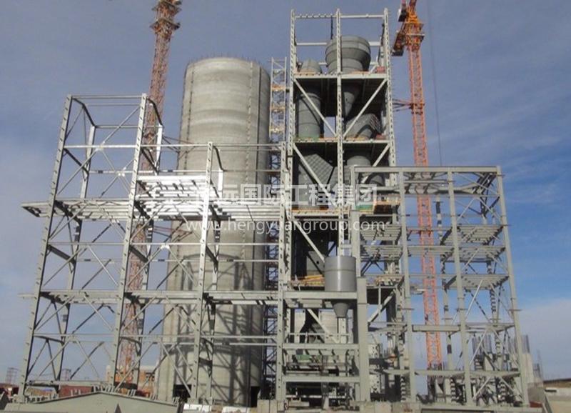 蒙古MAK水泥廠預熱器塔架