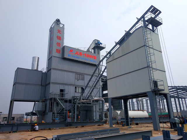 JLB5000集中箱式環保型瀝青混合料攪拌機