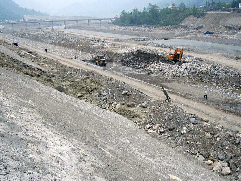 清平走馬嶺停淤場出口漿砌塊石護坡