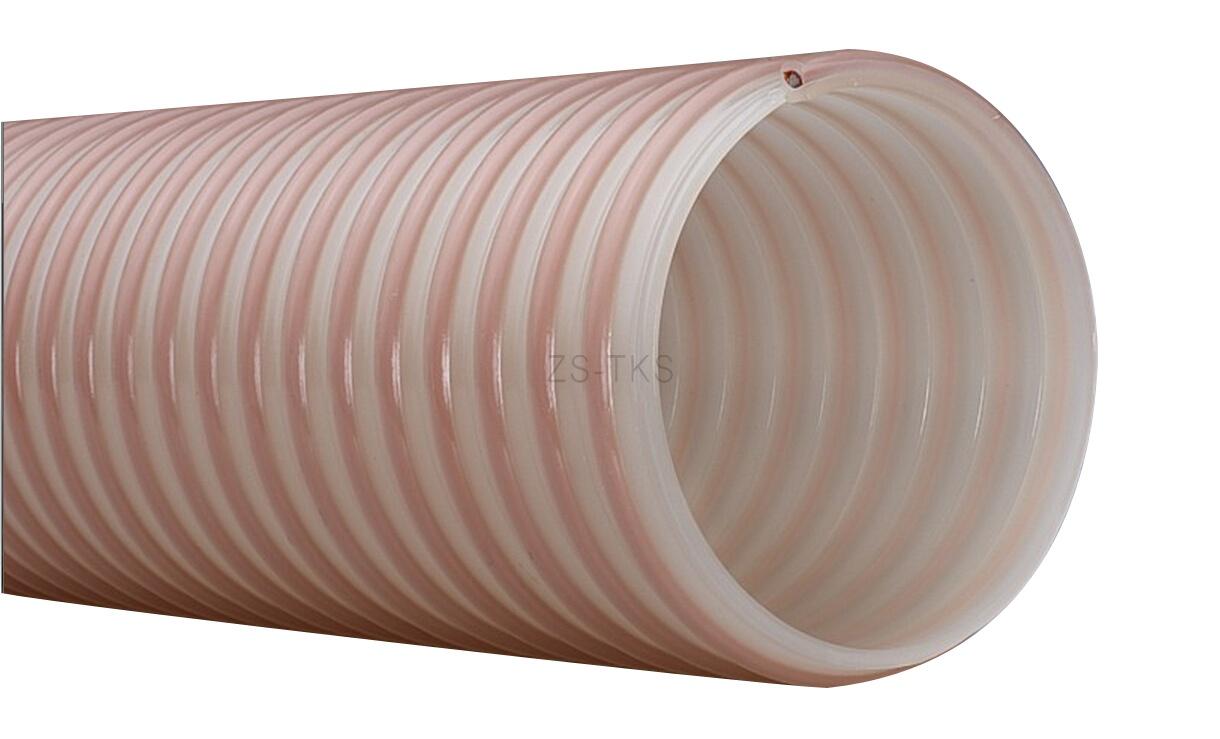 顆粒物質耐磨PU軟管-包塑螺旋鋼絲PU管-PUX