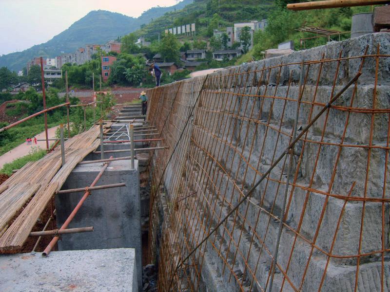 三峽庫區黃柏鄉邊坡支護工程